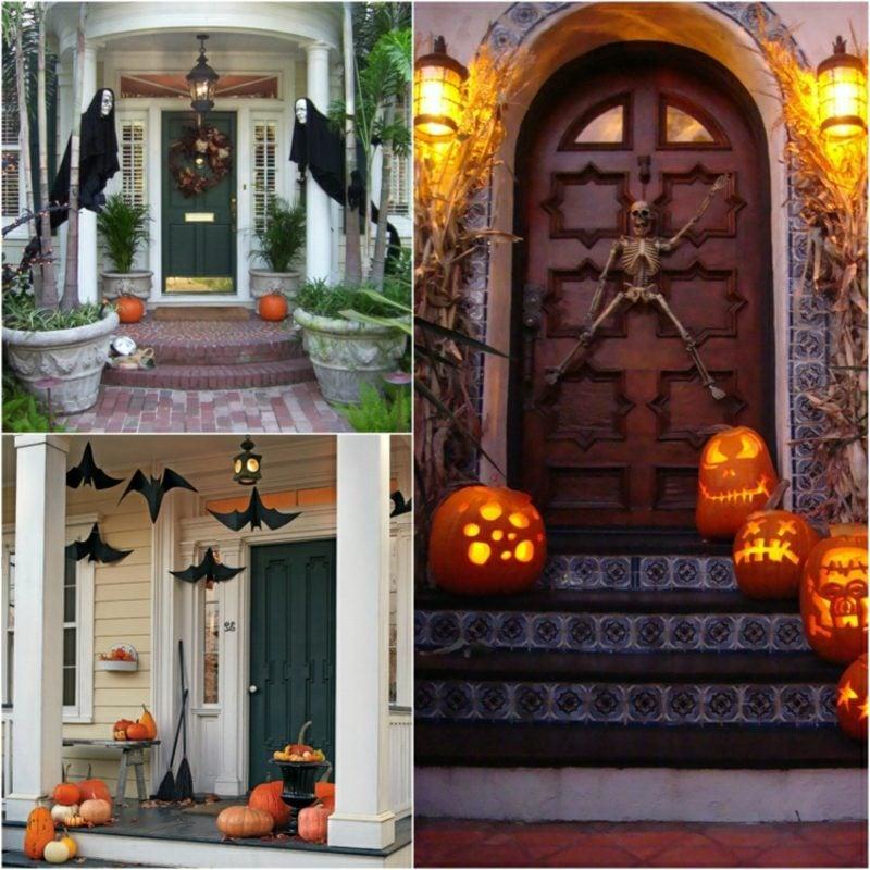 Halloween Deko selber machen für drauβen Terrasse Hauseingang