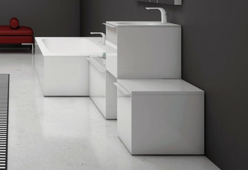 Waschbecken mit Unterschrank geometrisch modular super modern