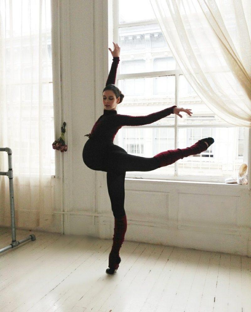 Schwangerschaftsfotos aufnehmen Ballerina