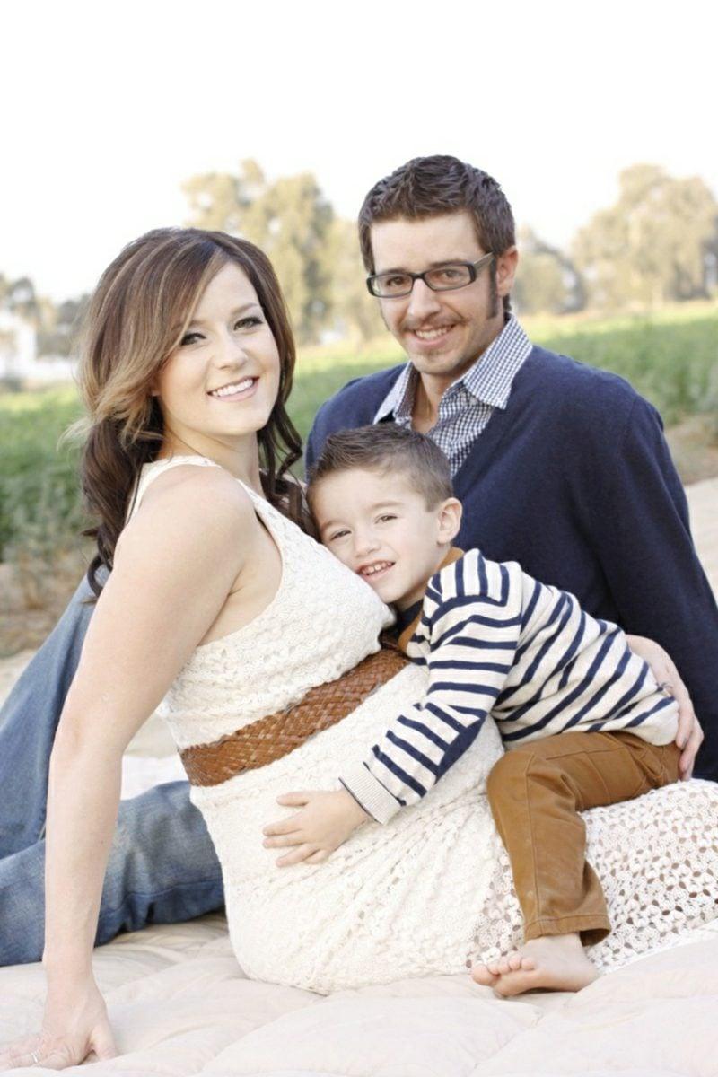 Schwangerschaftsfotos aufnehmen mit der ganzen Familie
