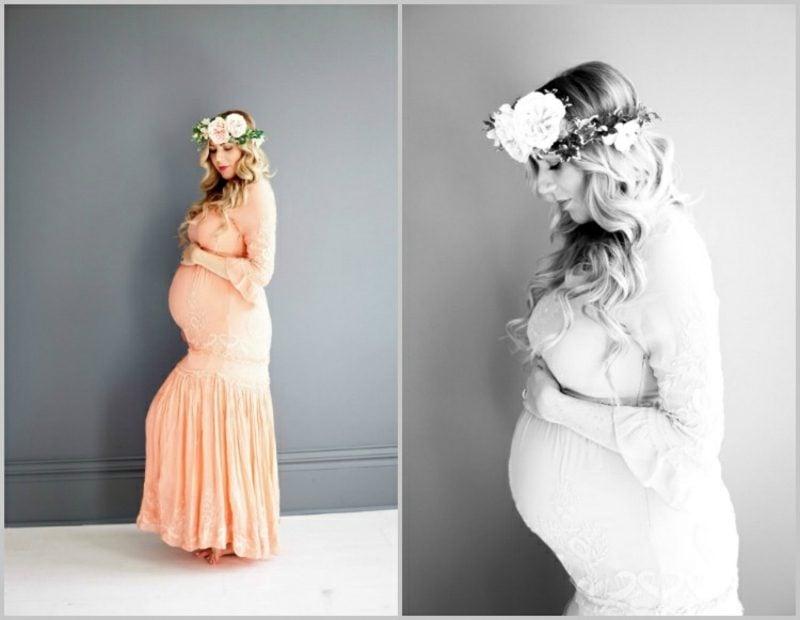 Schwangerschaftsfotos aufnehmen Frühlingsthema