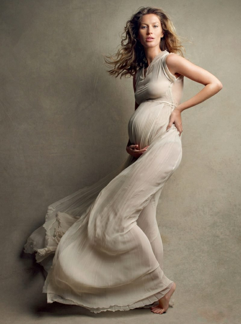Schwangerschaftsfotos aufnehmen Gisele Bunchen