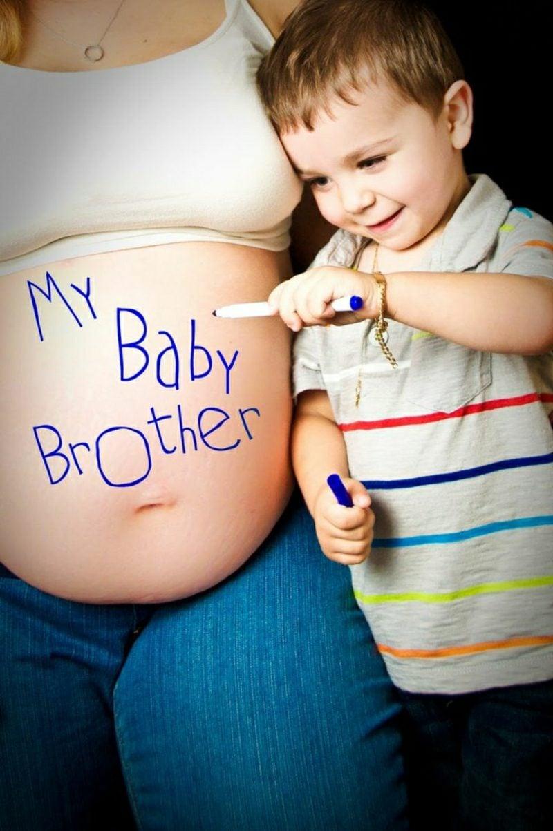 Schwangerschaftsfotos aufnehmen mit dem ersten Kind