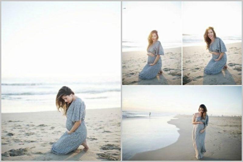 Schwangerschaftsfotos aufnehmen am Strand