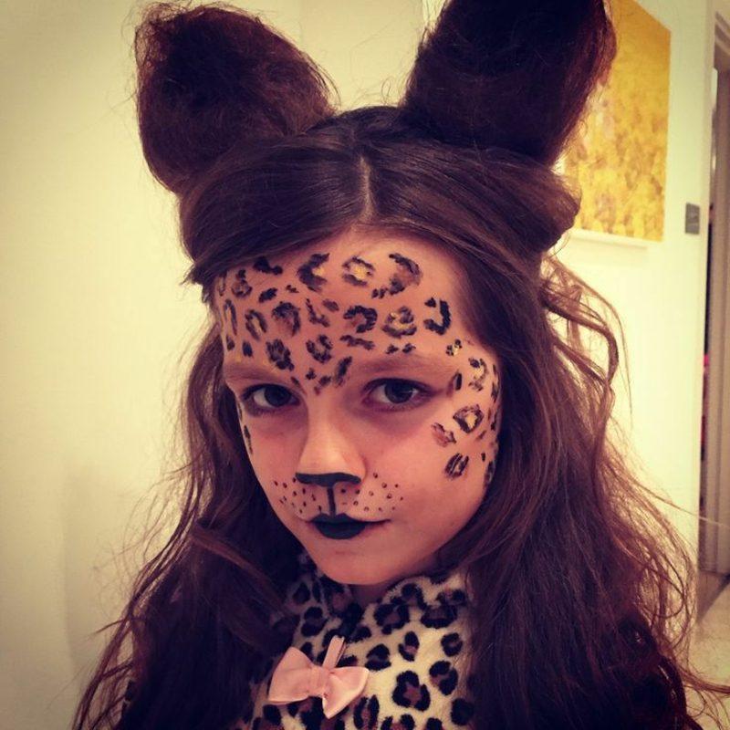 Halloween Schminken Kinder Leopard
