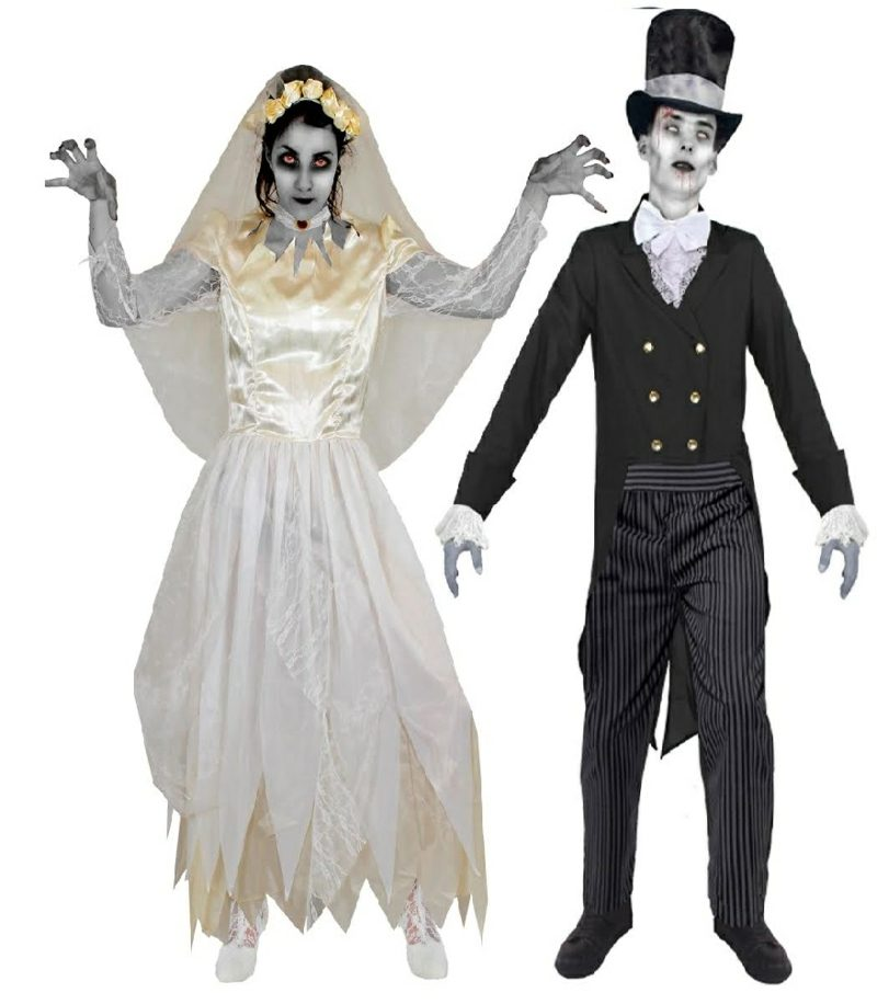Halloween Kostüme Herren Geisterbrautpaar