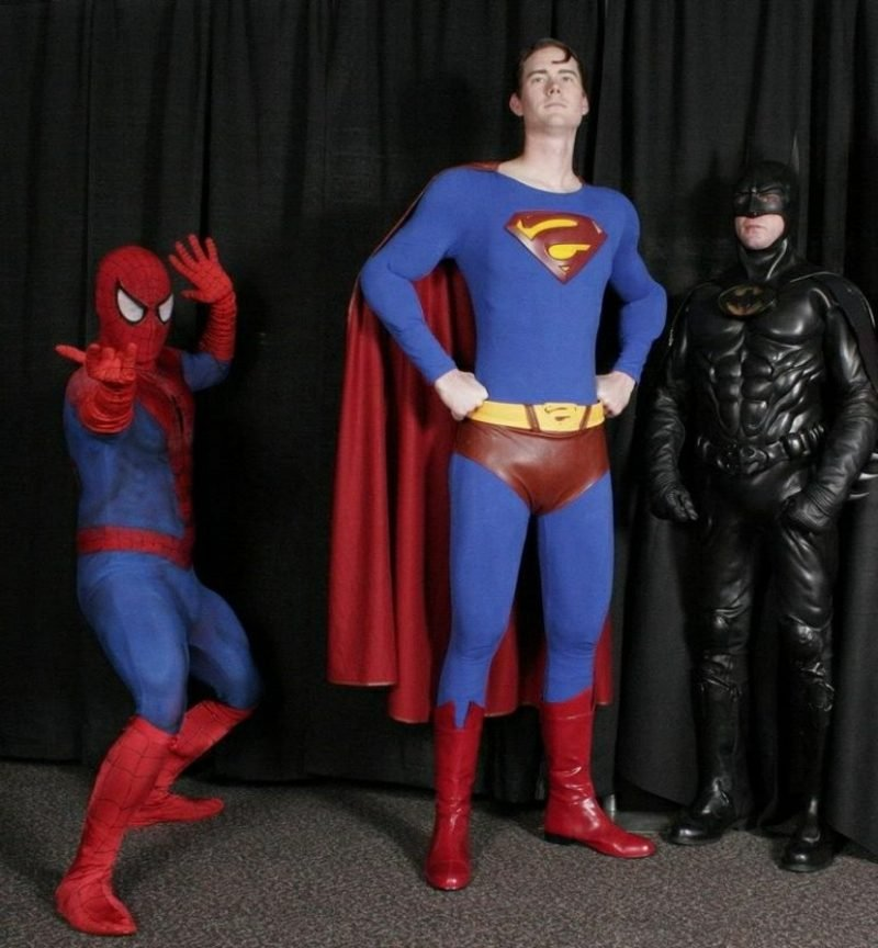 Halloween Kostüme Herren Spiderman Batman Superman