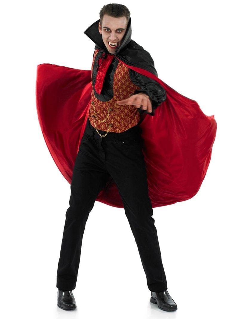 Halloween Kostüme Herren Vampir schaurig lange Zähne
