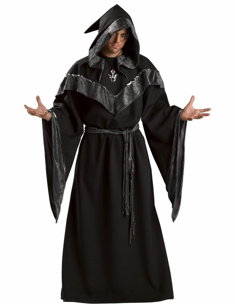 Halloween Kostüme Herren dunkler Hexenmeister