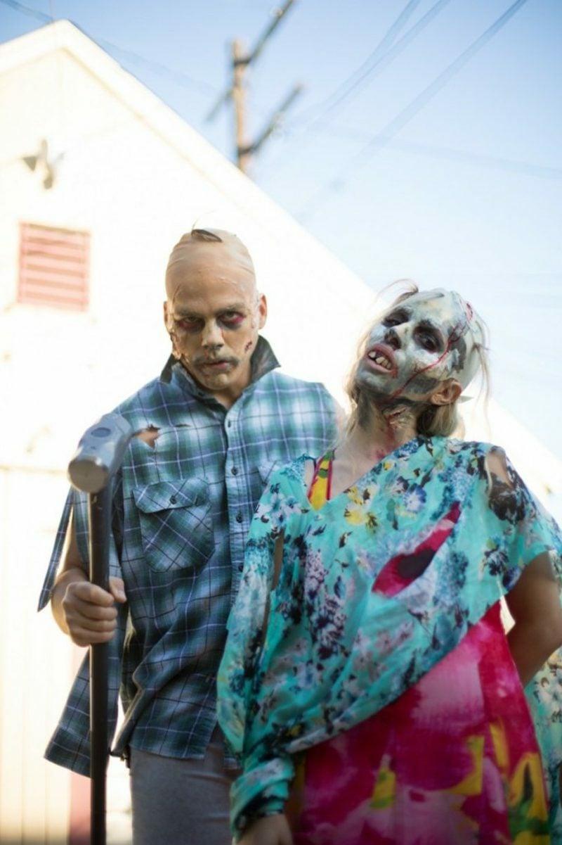 Halloween Kostüme Herren Zombiepaar schaurig