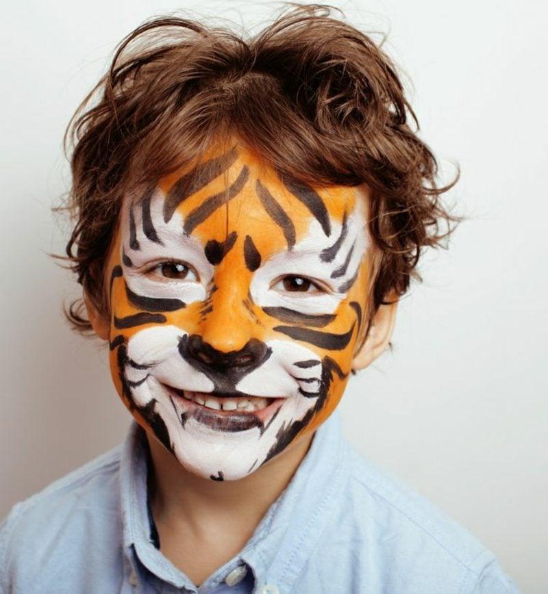 Halloween Schminken Kinder Tiger