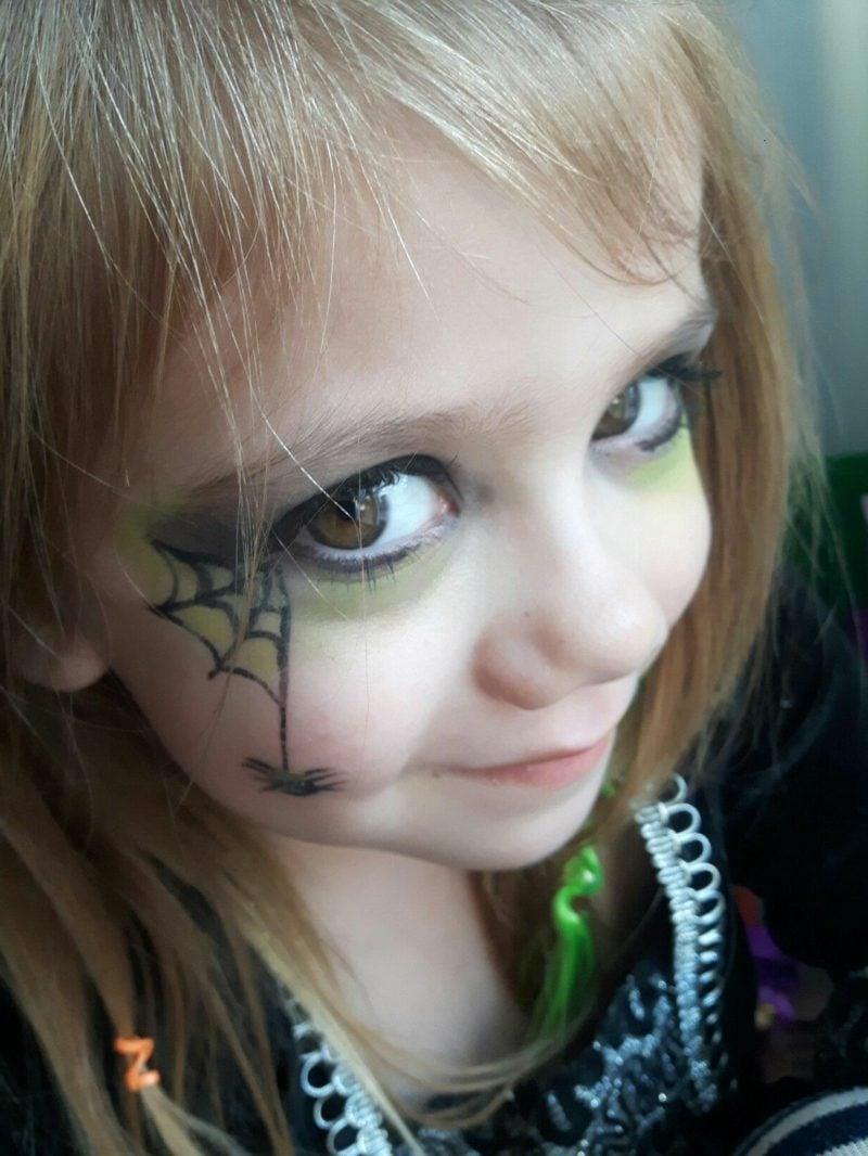 Halloween Schminken Kinder Hexe Anleitung