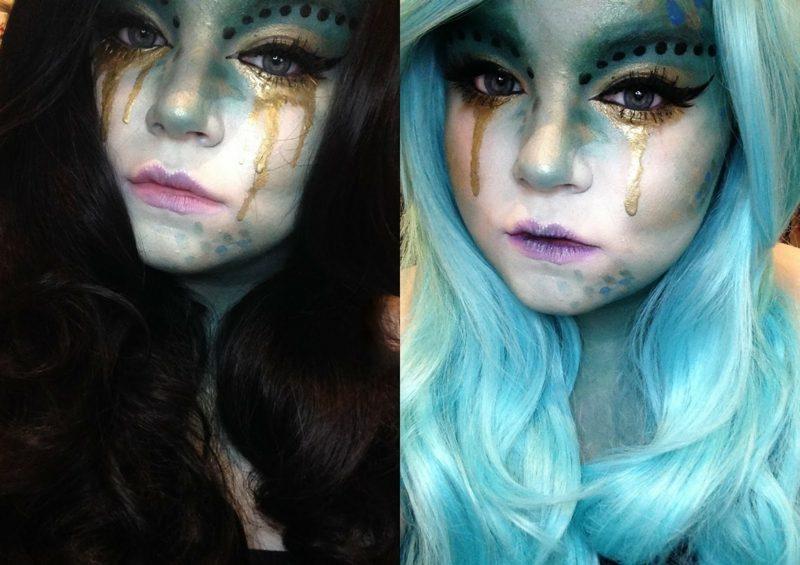 Halloween Schminken Kinder Hexe Perücke