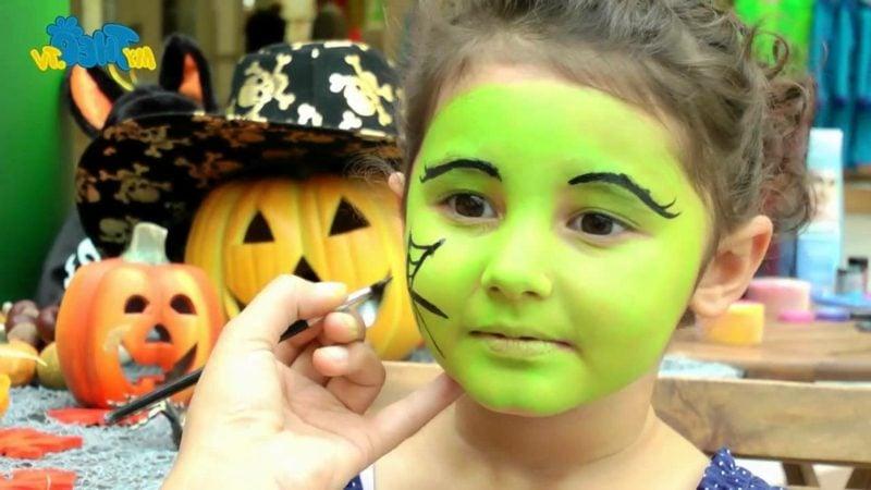 Halloween Schminken Kinder Hexe DIY Anleitung