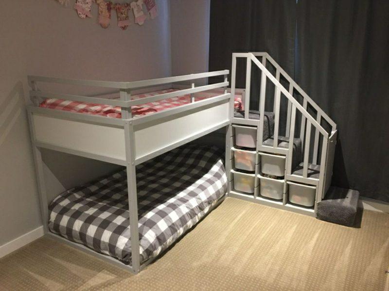 ikea kura bett umbauen anleitung hausbett diy anleitung zum bau eines ikea kura hacks mit. Black Bedroom Furniture Sets. Home Design Ideas