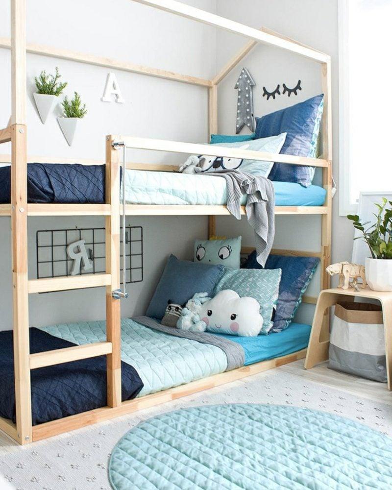 IKEA Kinderbett zwei Etagen toller Look