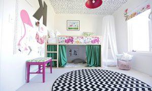 IKEA Kinderbett Kuschelecke mit Gardinen