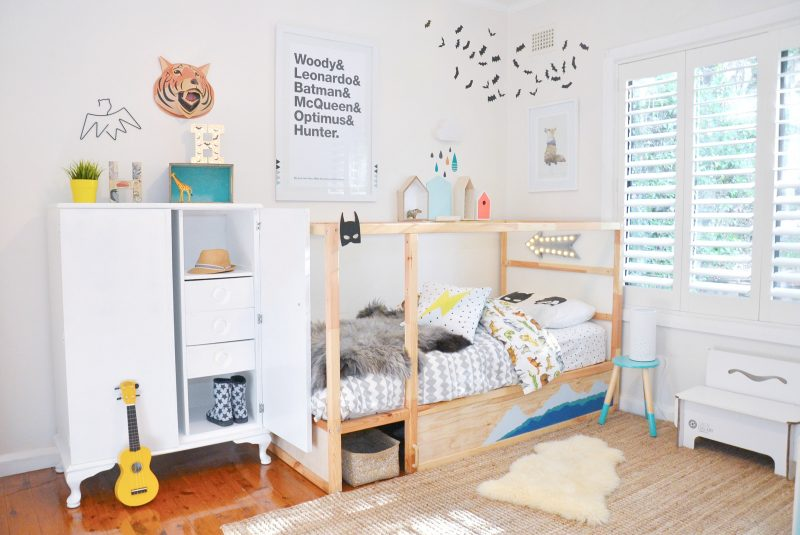IKEA Kinderbett stilvoller Look Jungenzimmer