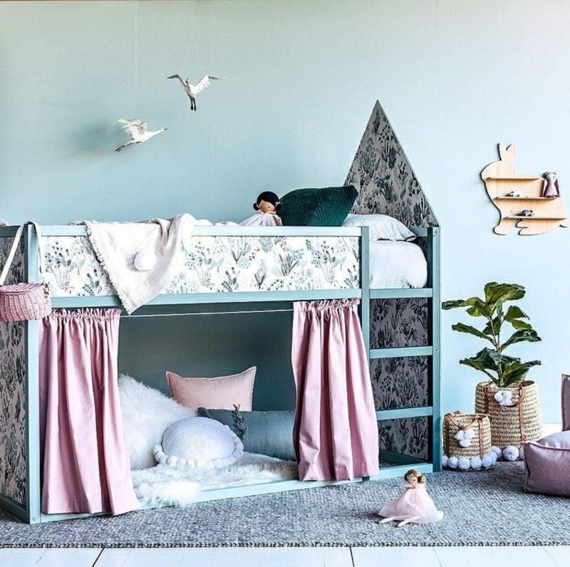 IKEA Kinderbett Schloss Kuschelecke Gardinen