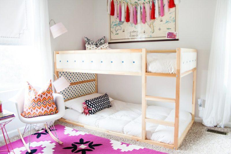 IKEA Kinderbett zwei Kinder Mädchenzimmer