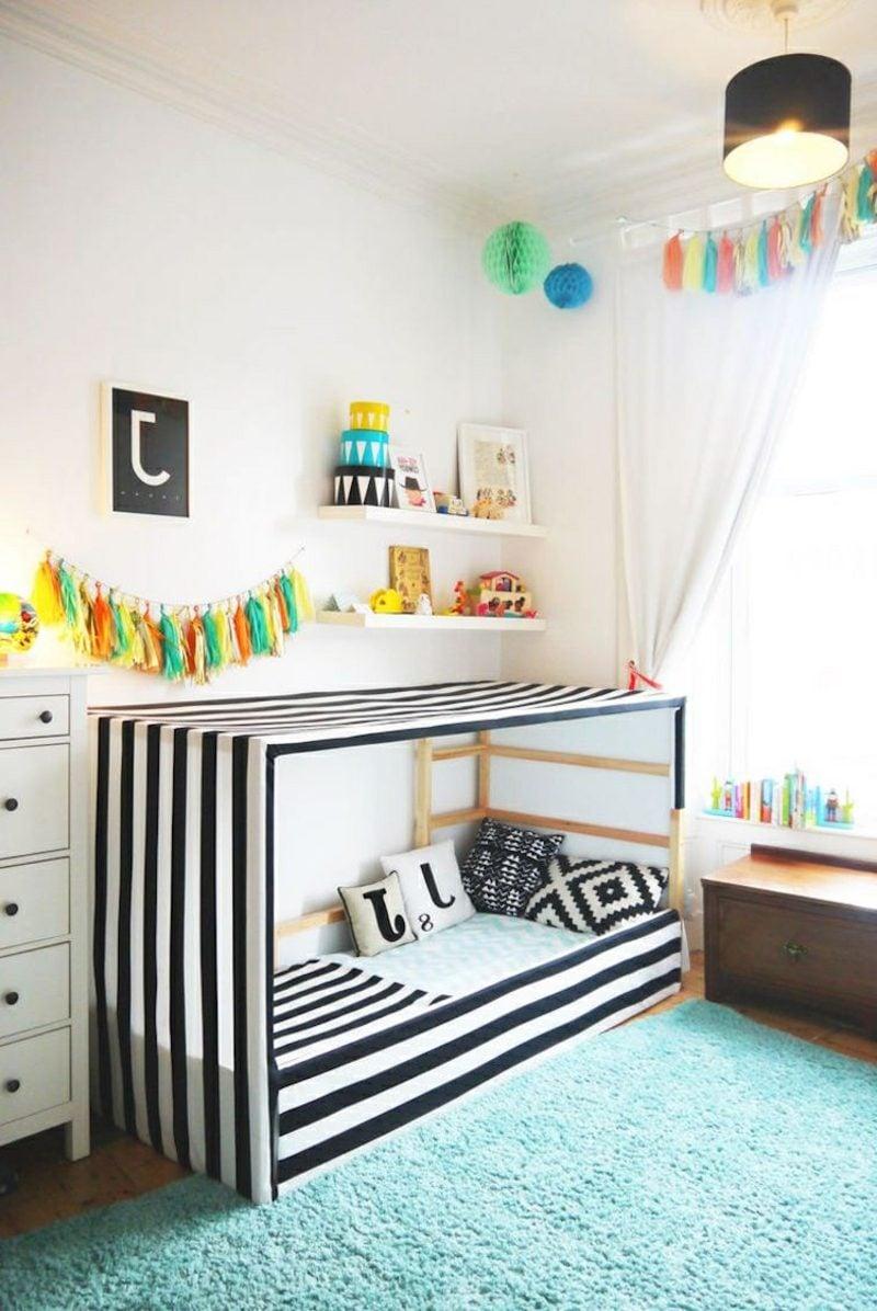 IKEA Kinderbett mit Stoff verkleiden