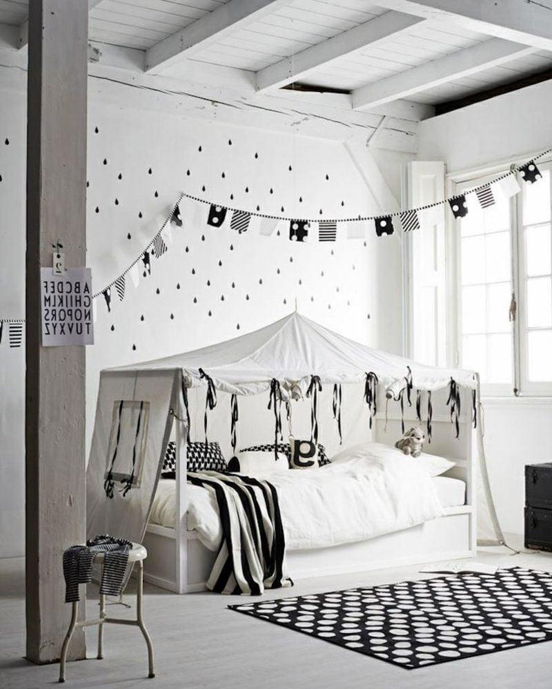 IKEA Kinderbett Zelt stilvoller Look