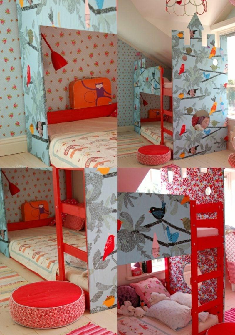 IKEA Kinderbett tapezieren mit Stoff