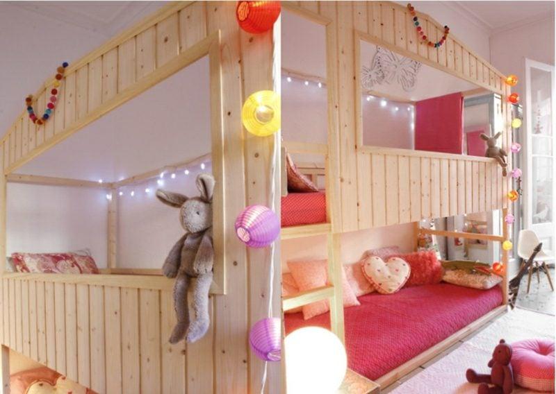 IKEA Kinderbett umgestalten Spielhaus