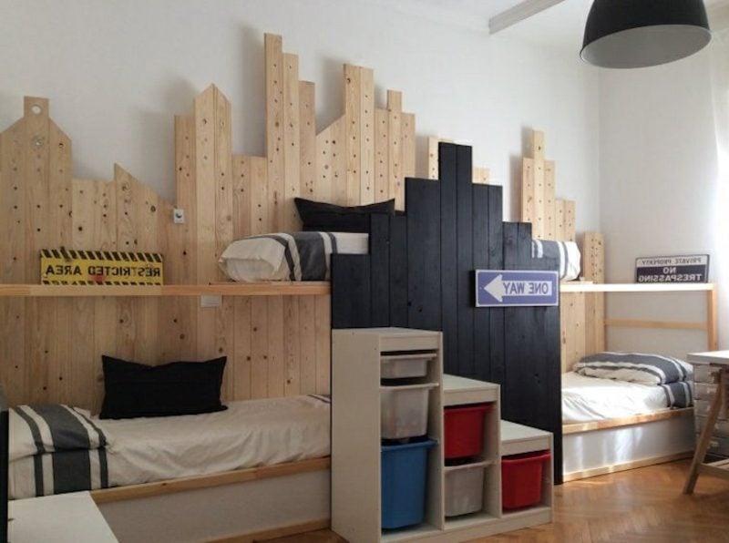 IKEA Kinderbett tolle Deko Stadt