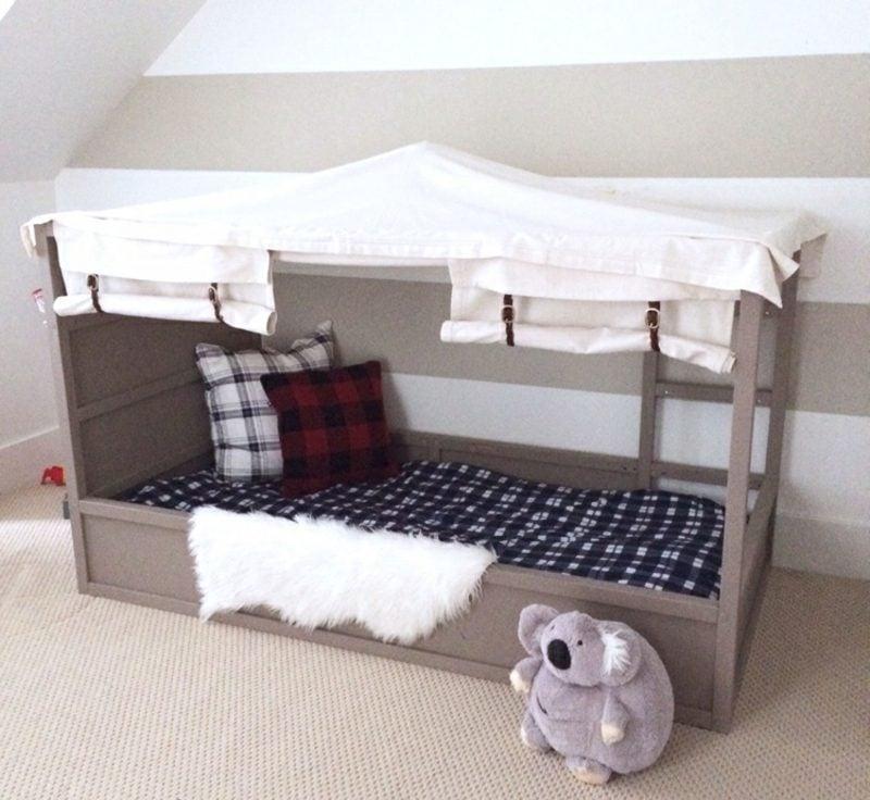 IKEA Kinderbett niedrig Zelt