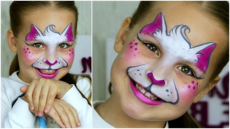 Halloween Schminken Kinder Katze