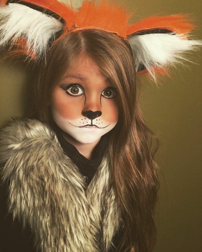 Halloween Schminken Kinder Fuchs