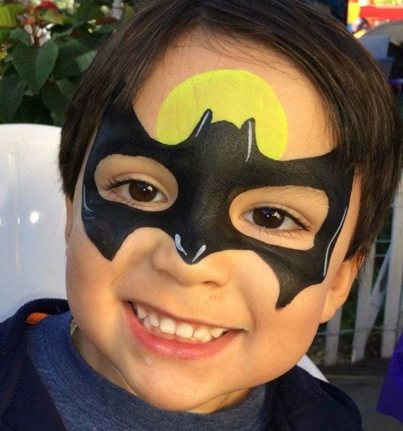 Halloween Schminken Kinder Batman