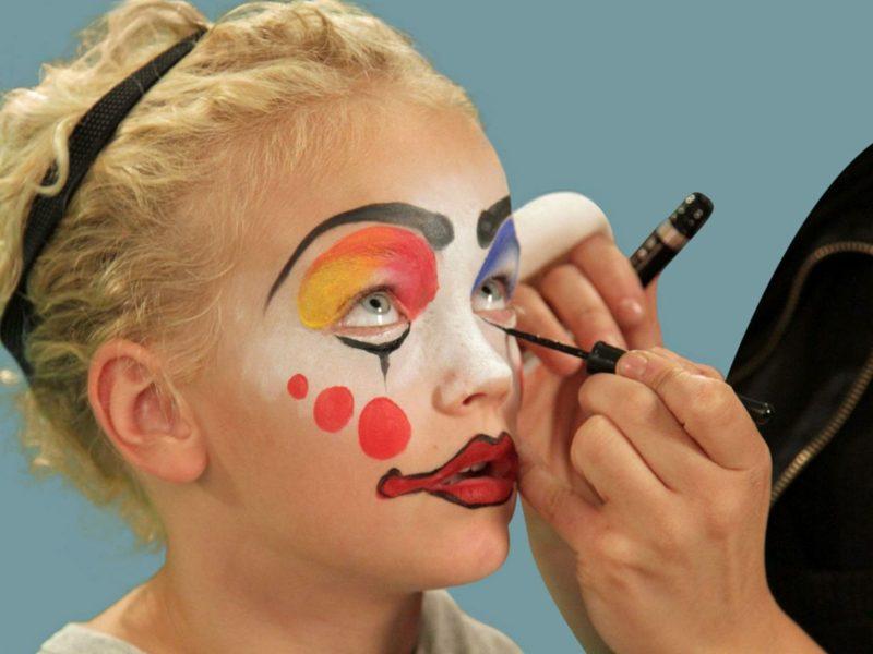Halloween Schminken Kinder Clown