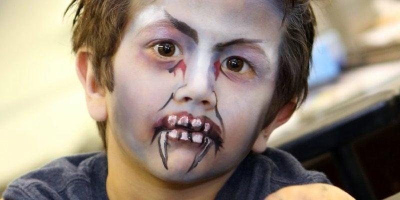 Halloween Schminken Kinder Werwolf gruselig
