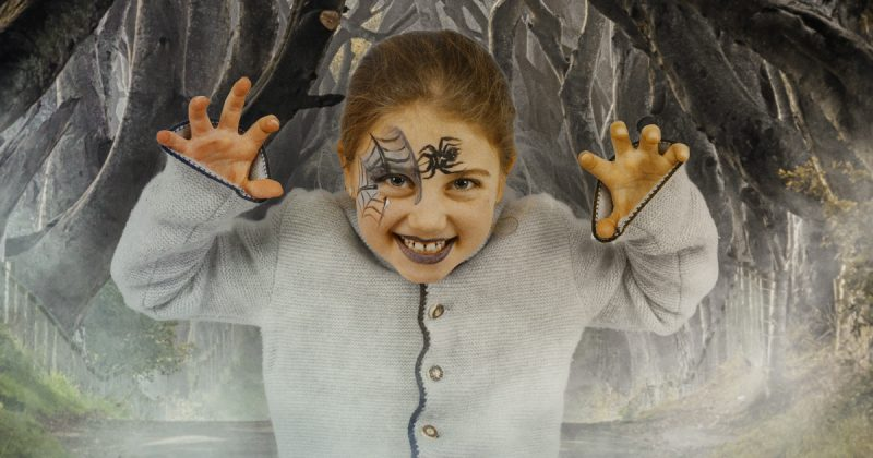 Halloween Schminken Kinder Hexe Ideen zum Nachmachen