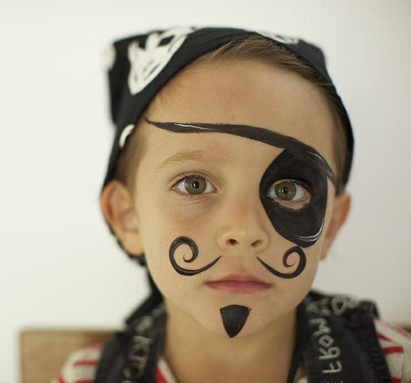 Halloween Schminken Kinder Pirat Junge
