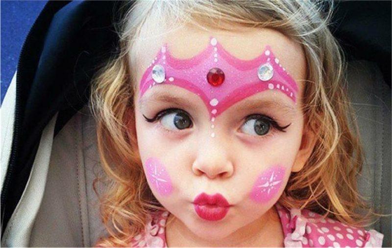 Halloween Schminken Kinder kleine Prinzessin