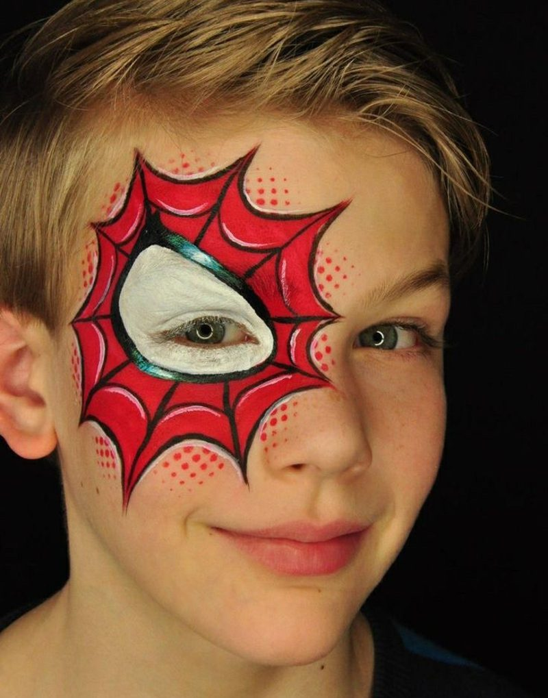 Halloween Schminken Kinder einfach Spiderman Junge