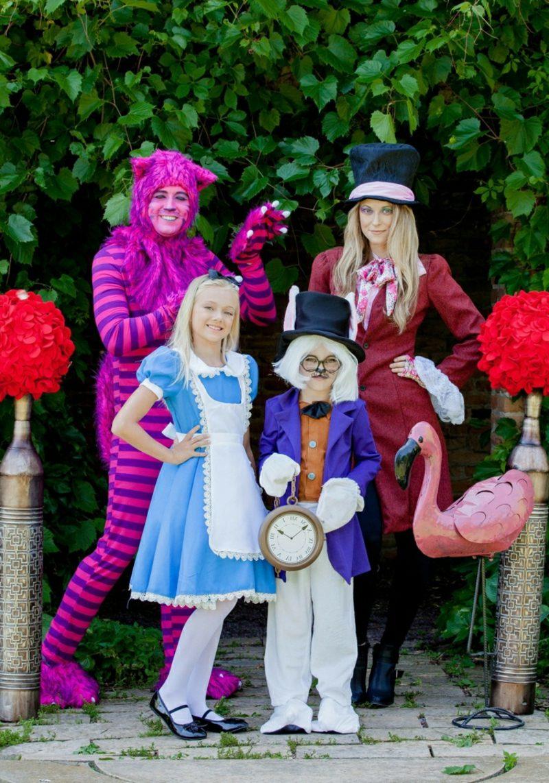 Alice im Wunderland Kostüm Grinsekatze Hutmacher Kanninchen