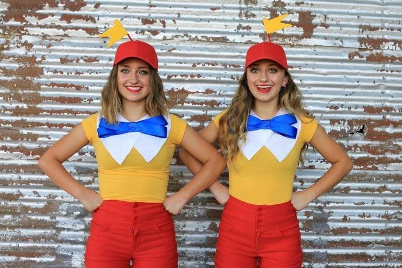 Alice im Wunderland Kostüm Zwillinge Diedeldei und Diedeldum