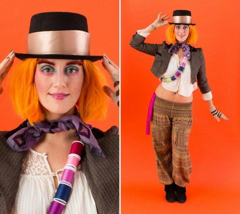 Alice im Wunderland Kostüm Frau Hutmacher originell