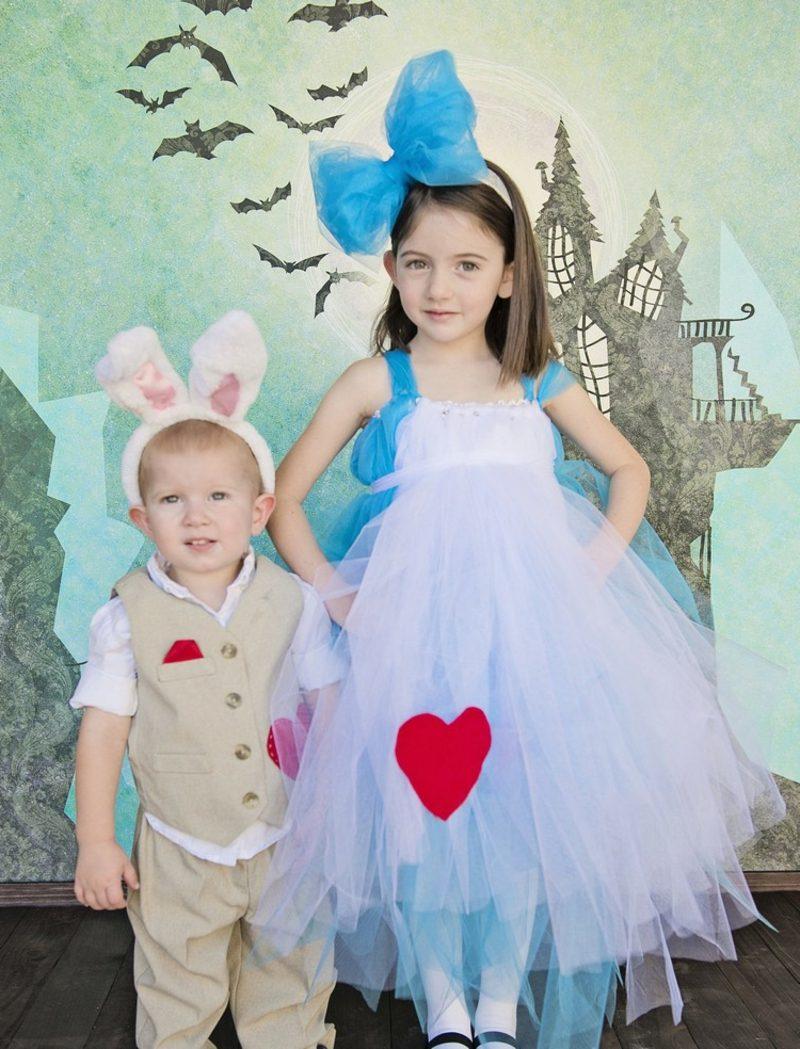 Alice im Wunderland Kostüm Geschwister Alice Kanninchen