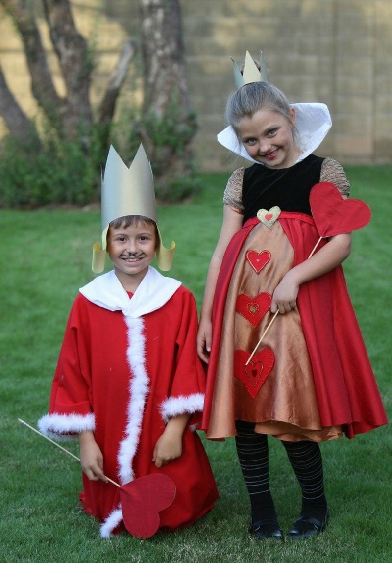 Alice im Wunderland Kostüm Herzkönigin und -könig