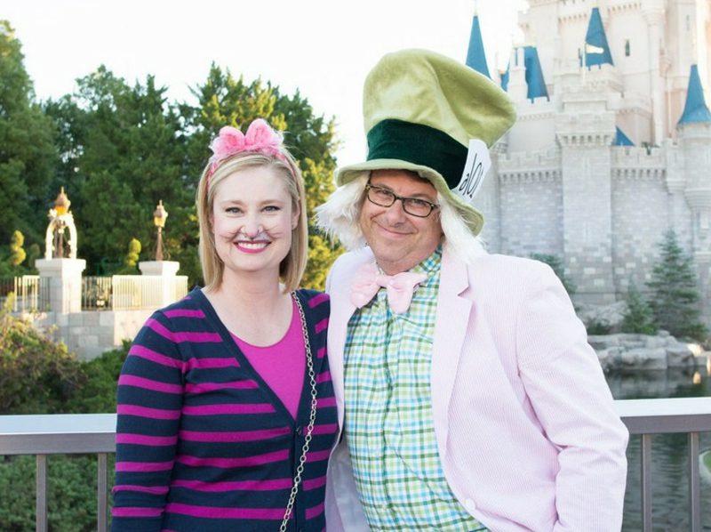 Alice im Wunderland Kostüm Paar Hutmacher Grinsekatze