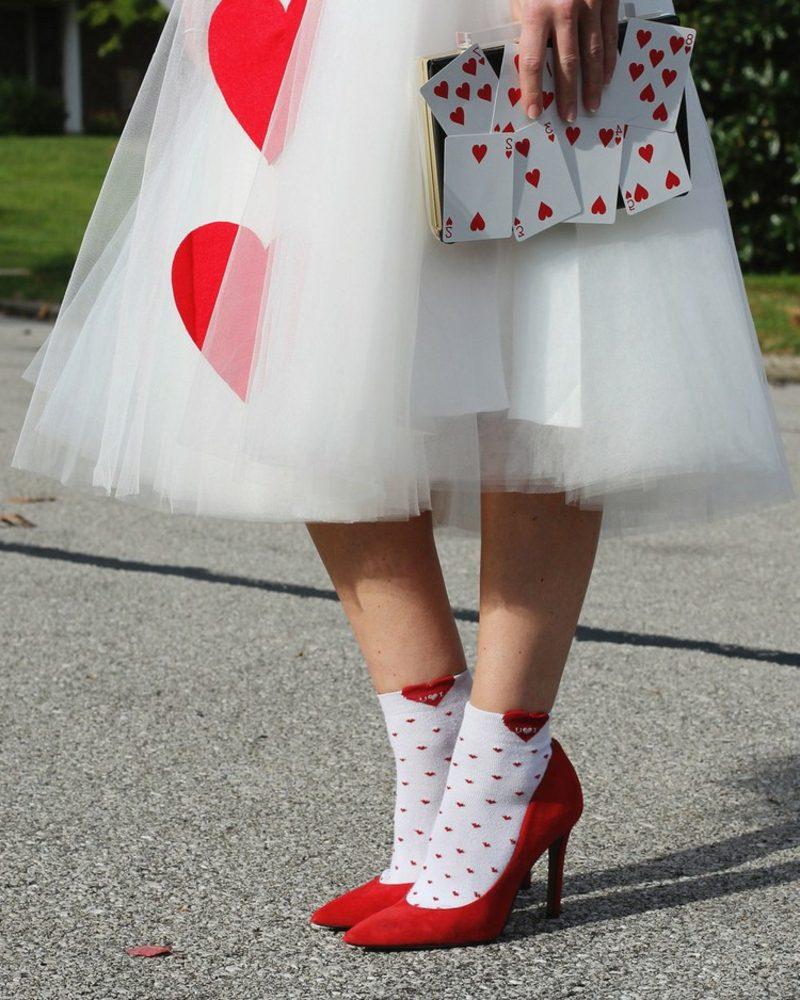 Alice im Wunderland Kostüm Herzdame Accessoires