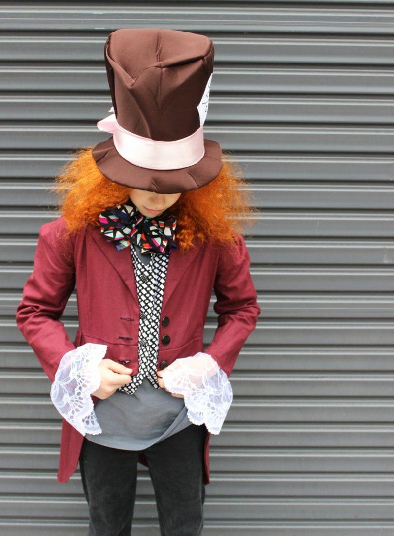 Alice im Wunderland Kostüm Hutmacher Zylinderhut