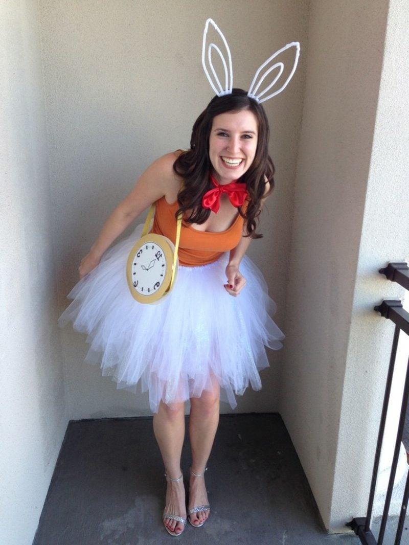 Alice im Wunderland Kostüm Kanninchen Taschenuhr Frau