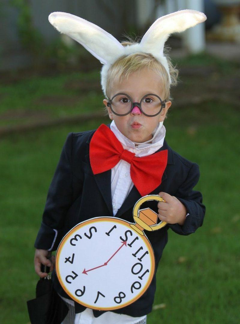 Alice im Wunderland Kostüm Kind weisses Kanninchen