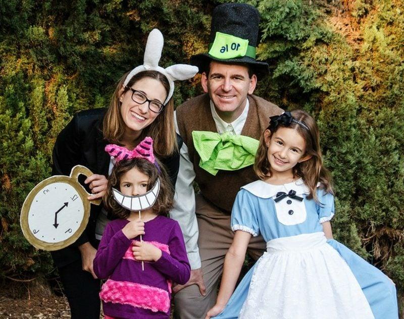 Alice im Wunderland Kostüm Grinsekatze weisses Kanninchen Hutmacher
